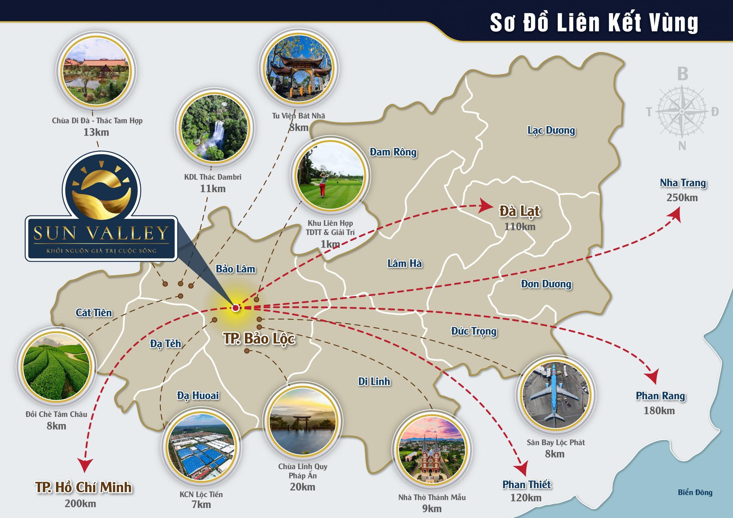 Vị trí Dự án Sun Valley Bảo Lộc